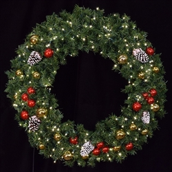 5mm LED Lighted wall mount wreath