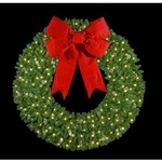 "72"" to 144"" Hanging 3D wreath with 3D Bows"