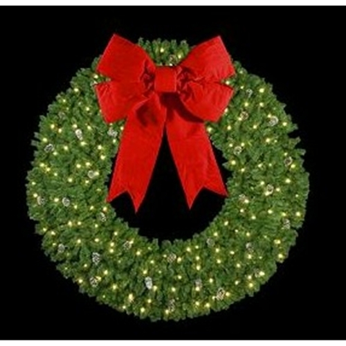 outdoor lighted wreath timer larger photo email friend christmas holiday decor