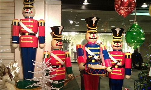 Life-Size Toy Soldiers and Nutcracker Christmas Decorations