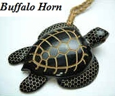 35007 Buffalo Horn Turtle Necklace