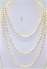 38032 7-8mm Rice Fresh Water Pearl Necklace 64""