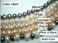 38405 7-8mm Fresh Water Pearl w/925 Silver 11mm Claps