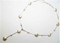 "38424 Fresh Water Water Pearl Necklace 18"" w/925 Silver Chain"