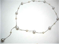 38425 Fresh Water Pearl Necklace w/925 Silver Chain