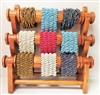 51010-2 Brown Color Three Levels Wood Bracelet Display