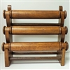51010-3 Walnut Color Three Level Wood Bracelet Display