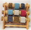 51010-4 Natural Wood w/Sea Grass Three Layers Bracelet Display