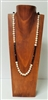 51017-2 (Large) Brown Wood Necklace Display