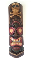 Tiki Wooden Mask with Skull