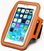 Runners Dual Armband Case - Orange Design with Key Holder for Apple iPhone 5