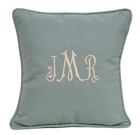 Monogram Pillow in Spa
