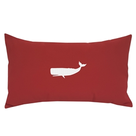 Whale on Red