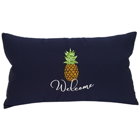 Pineapple & Welcome on Navy Lumbar