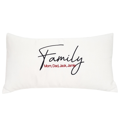 Personalized FAMILY Pillow (Add up to 7 names!)