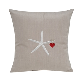 Starfish and Heart on Flax