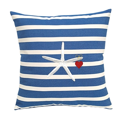 Starfish and Heart on Stripes