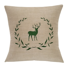 Deer in Laurel Wreath (Spotlight Dune Fabric)
