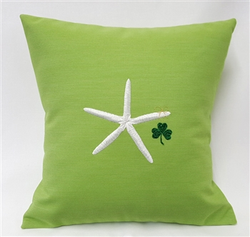 Starfish and Shamrock Pillow