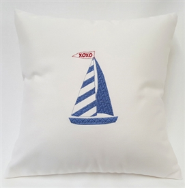 XO Sailboat Pillow