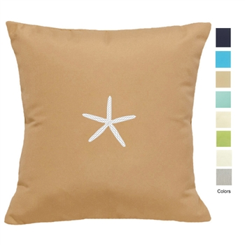 Coastal Cottage Starfish Pillow