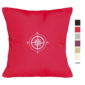 Contemporary Vibe Compass Rose Pillow