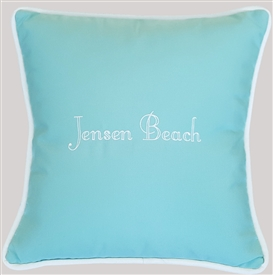 Custom Place Pillows in Glacier Blue