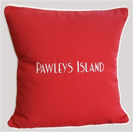 Custom Place Pillows in Rich Red