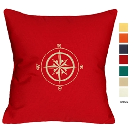 East Coast Compass Rose Pillow