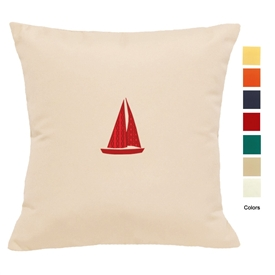 East Coast Sailboat Pillow