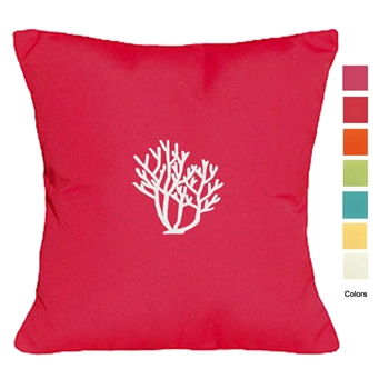 Palm Beach Coral Pillow