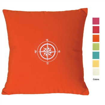 Palm Beach Compass Rose Pillow