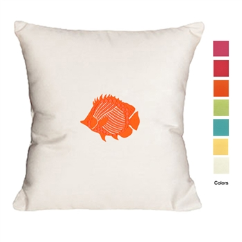 Palm Beach Vintage Fish Pillow