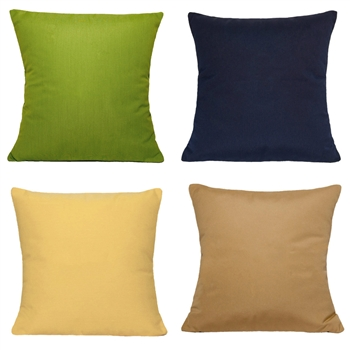 "Solid Sunbrella TM 18"" Pillow"