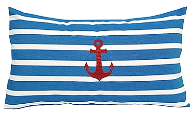 Red Anchor on Regatta Stripes