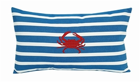 Red Crab on Regatta Stripes