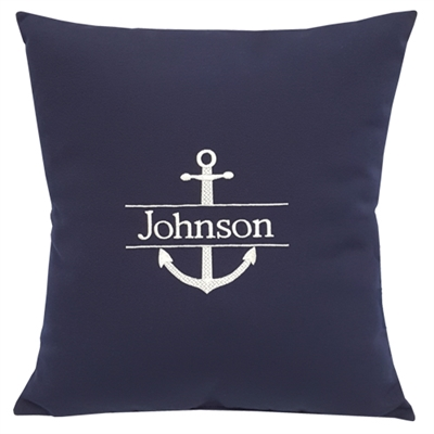 Personalized Split Anchor Navy