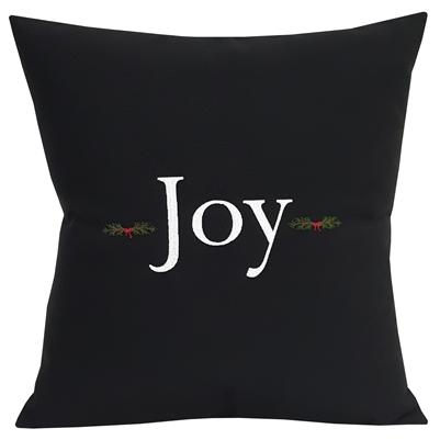 Joy with Country Pine Boughs in Black