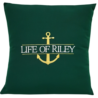 Custom Split Anchor Pillow in Forest Green