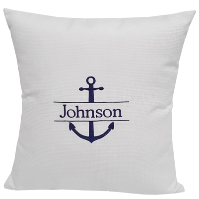 Custom Split Anchor Pillow in White Linen