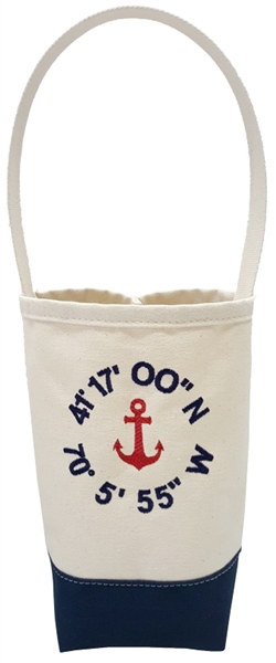 Anchor Wine Tote with Personalized Coordinates