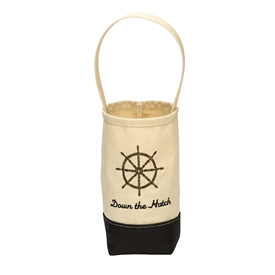 """Down the Hatch"" Wine Tote"