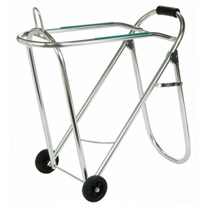 Rolling Folding Saddle Stand w/ Wheels on Sale!