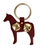 Horse Door Bells; Leather door knocker with brass plated bells.