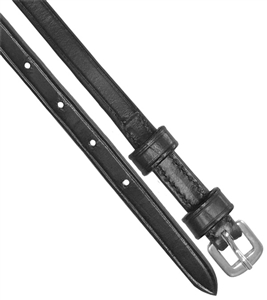 "Double Keeper Spur Strap (Pair) Double keeper leather spur straps are 3/8"" wide x 18"" long and made of black leather."