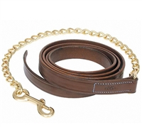 Best Discount Price on Camelot Leather Lead With Brass Chain