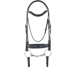Best Discount Price on Recessed Crown-Leather Dressage Bridle w/o Flash