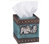 Tissue Box Cover - Blue Horses For Sale!