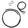 Black Leather Noseband Kit for Combination Bits (Includes black leather noseband, cord, rings and string) 5""