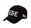 """RIDE"" Black Horse Cap For Sale!"